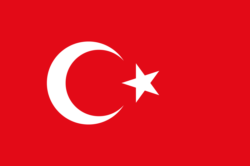 Turkey flag package