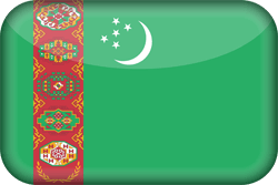 Flag of Turkmenistan - 3D