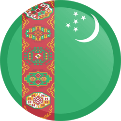 Flag of Turkmenistan - Button Round