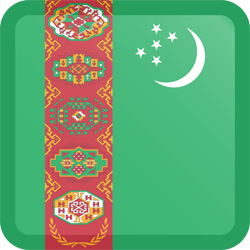 Flag of Turkmenistan - Button Square