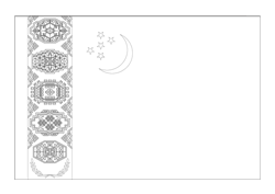 Turkmenistan flag coloring - free download