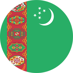Flag of Turkmenistan - Round