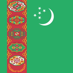 Flag of Turkmenistan - Square