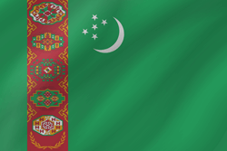 Drapeau du Turkménistan - Vague