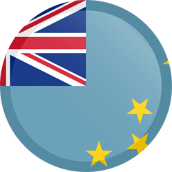Flag of Tuvalu - Button Round