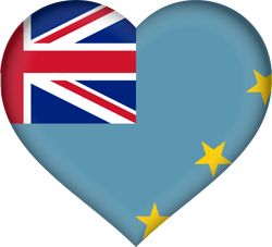 Flag of Tuvalu - Heart 3D