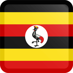 Flag of Uganda - Button Square