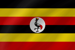 Drapeau de l'Ouganda - Vague