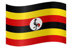 Flag of Uganda - Waving