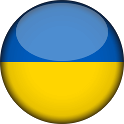 Flag of Ukraine - 3D Round