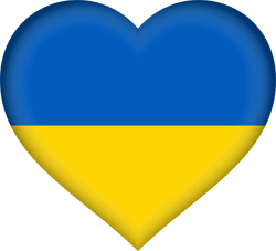 Flag of Ukraine - Heart 3D