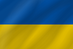 Drapeau de l'Ukraine - Vague