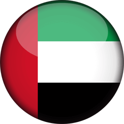 Flag of the United Arab Emirates - 3D Round