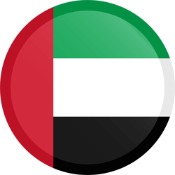 Flag of the United Arab Emirates - Button Round
