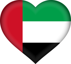 Flag of the United Arab Emirates - Heart 3D