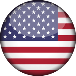 Flag of the United States - Flag of the USA - Flag of America - 3D Round