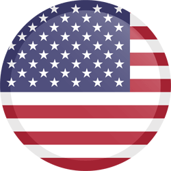 Flag of the United States - Flag of the USA - Flag of America - Button Round