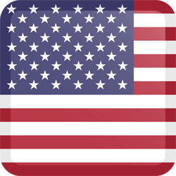 Flag of the United States - Flag of the USA - Flag of America - Button Square