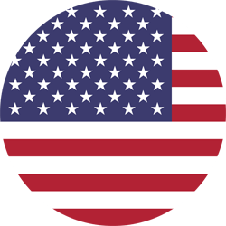 Flag of the United States - Flag of the USA - Flag of America - Round