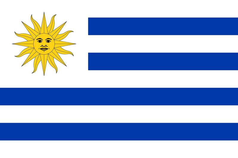 Set complet drapeau Uruguay