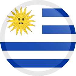 Flag of Uruguay - Button Round