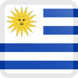 Flag of Uruguay - Button Square