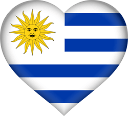Flag of Uruguay - Heart 3D