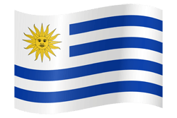 Flag of Uruguay - Waving