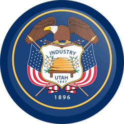 Flag of Utah - Button Round