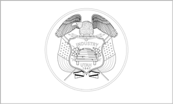 Vlag van Utah - A4