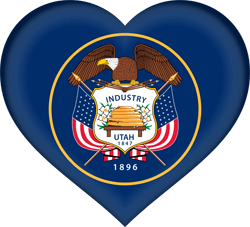 Flag of Utah - Heart 3D
