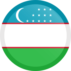 Flag of Uzbekistan - Button Round