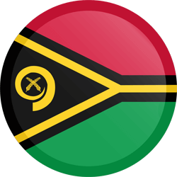 Flag of Vanuatu - Button Round