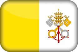 Flag of Vatican City - Flag of the Holy See - 3D