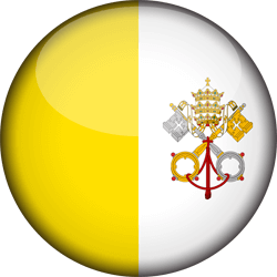 Flag of Vatican City - Flag of the Holy See - 3D Round