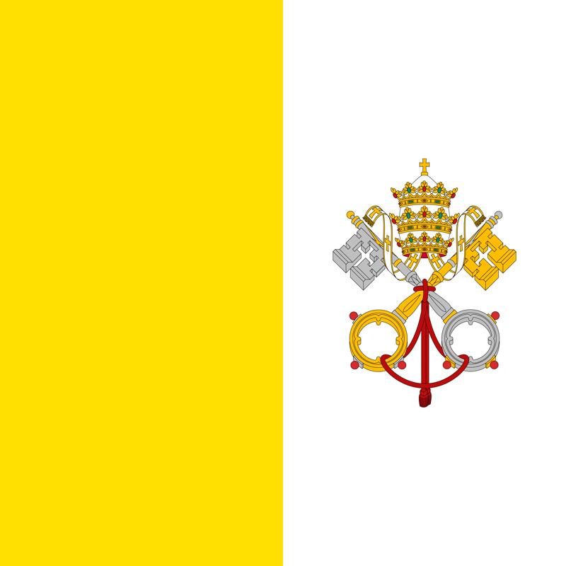 Set complet drapeau l'État de la Cité du Vatican