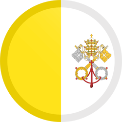 Flag of Vatican City - Flag of the Holy See - Button Round