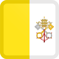 Flag of Vatican City - Flag of the Holy See - Button Square