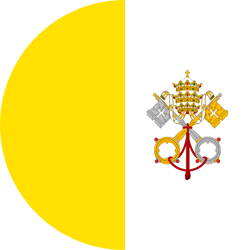 Flag of Vatican City - Flag of the Holy See - Round