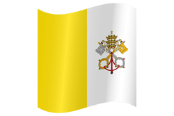 Flag of Vatican City - Flag of the Holy See - Waving