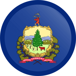 Flag of Vermont - Button Round