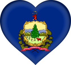 Flag of Vermont - Heart 3D