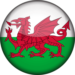 Flag of Wales - 3D Round