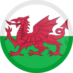 Flag of Wales - Button Round