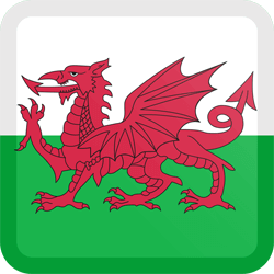 Flag of Wales - Button Square
