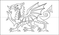 Drapeau du Pays de Galles - A4