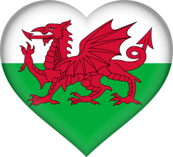 Flag of Wales - Heart 3D