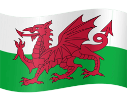 Flag of Wales - Waving