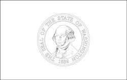 Flagge von Washington - A4