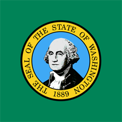 Vlag van Washington - Vierkant